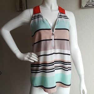 THML by Anthropologie mix colors stripers blouse